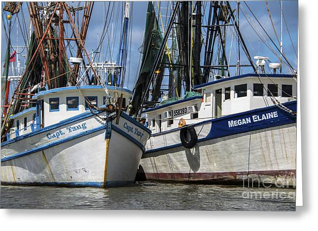 Mt. Pleasant Sc Greeting Cards - Capt. Tang and Megan Elaine Greeting Card by Dale Powell