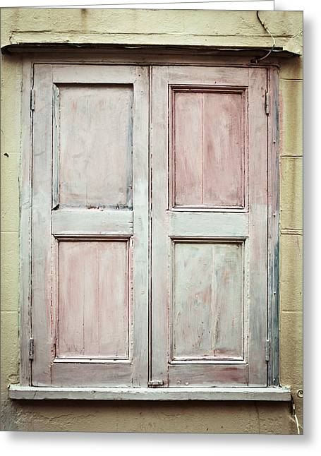 Weathered Shutters Greeting Cards - Shutters Greeting Card by Tom Gowanlock