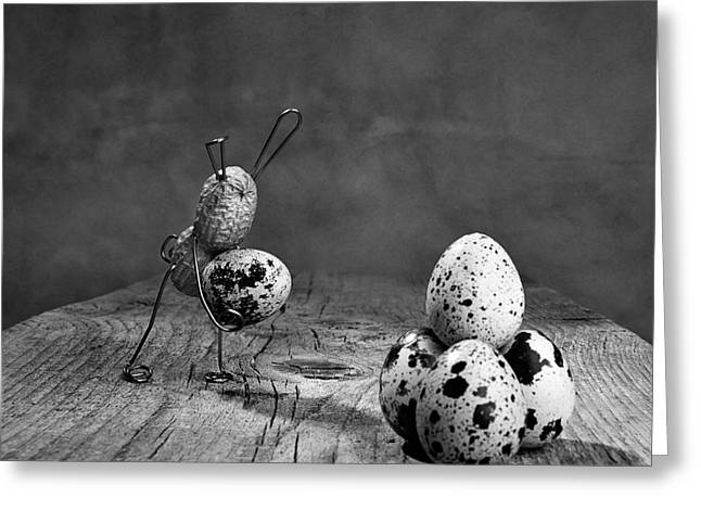 Comical Greeting Cards - Simple Things Easter Greeting Card by Nailia Schwarz