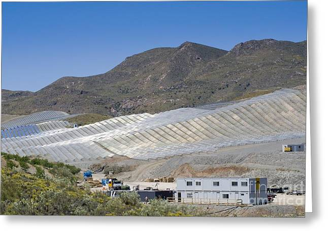 Power Plants Greeting Cards - Solar Power Plant, Cala San Pedro, Spain Greeting Card by Chris Knapton