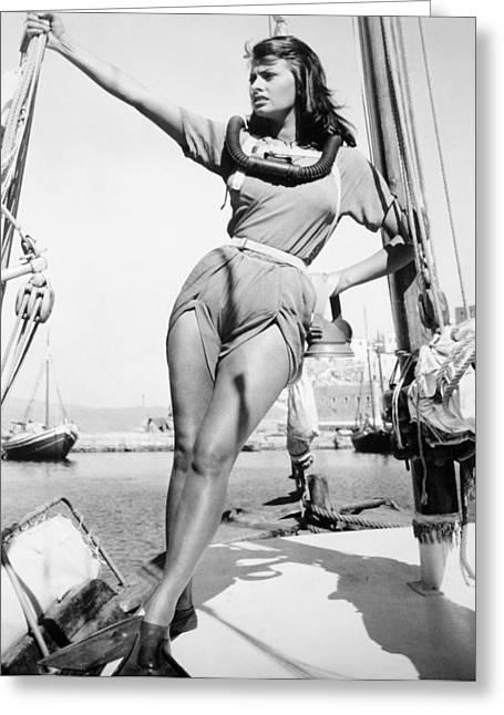 1957 Movies Greeting Cards - Sophia Loren (1934- ) Greeting Card by Granger