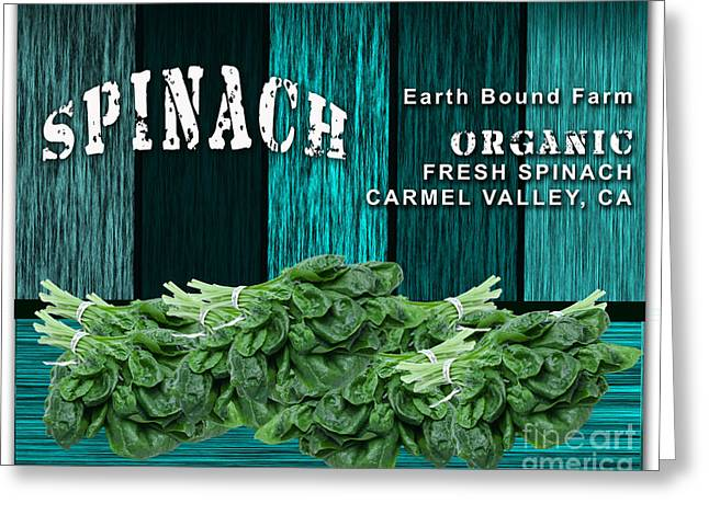 Kitchen Greeting Cards - Spinach Patch Greeting Card by Marvin Blaine