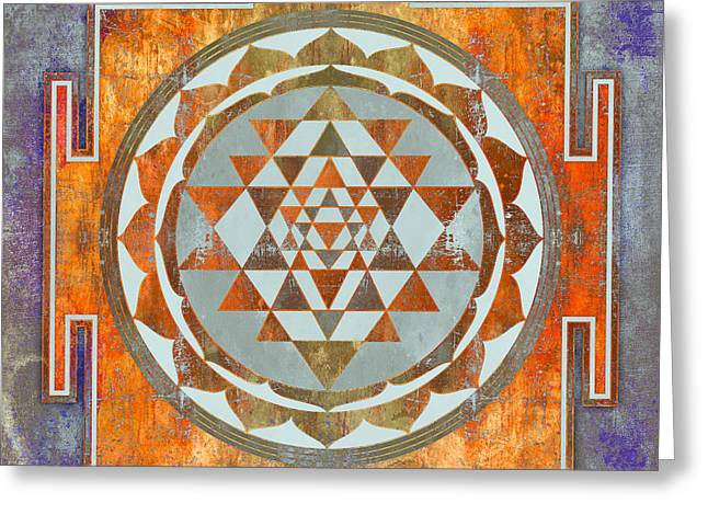 Sri Yantra Greeting Card by Filippo B
