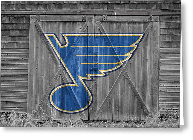 Skates Greeting Cards - St Louis Blues Greeting Card by Joe Hamilton