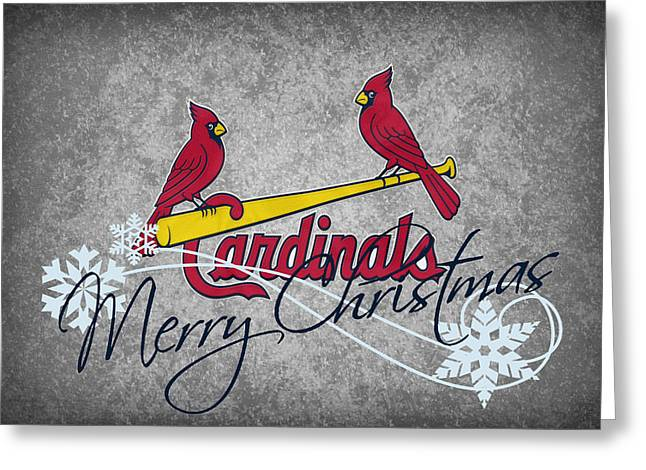 Baseball Field Greeting Cards - St Louis Cardinals Greeting Card by Joe Hamilton