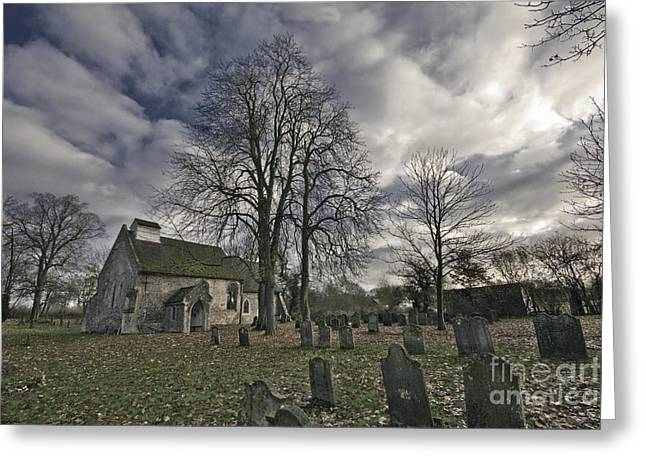 St Margaret of Antiochs Church Linstead Greeting Card by Darren Burroughs