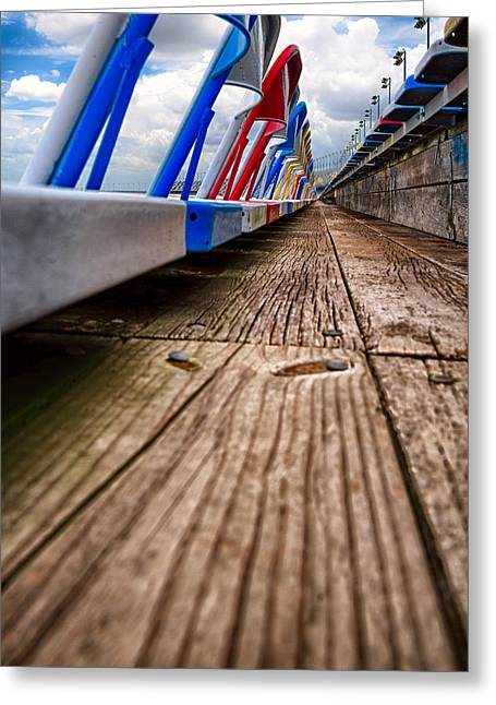 Empty Chairs Greeting Cards - Stadium seats Greeting Card by Celso Diniz