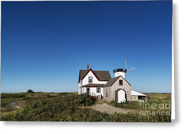 Chatham Greeting Cards - Stage Harbor Lighthouse Greeting Card by John Greim