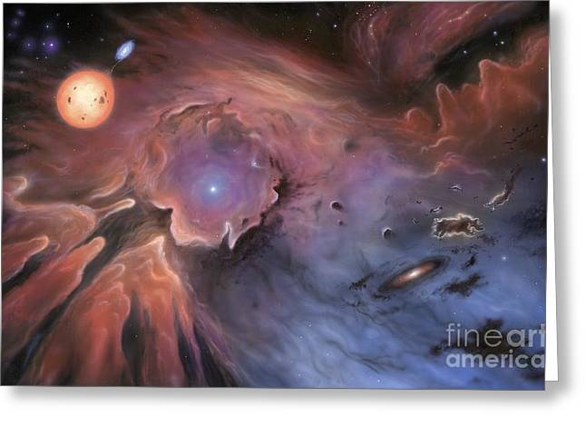 Starbirth Greeting Cards - Starbirth Region, Artwork Greeting Card by Richard Bizley