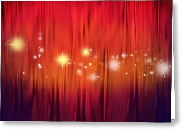 Showtime Greeting Cards - Starry background Greeting Card by Les Cunliffe