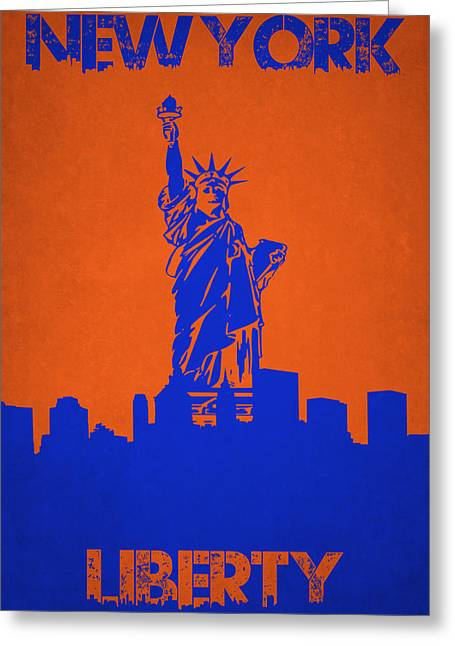 Statue Liberty Greeting Cards - Statue Of Liberty Greeting Card by Joe Hamilton