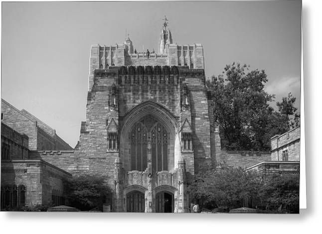 Entrance Door Greeting Cards - Sterling Memorial Library - Yale University Greeting Card by Mountain Dreams