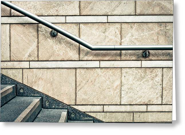 Marble Stone Greeting Cards - Stone steps Greeting Card by Tom Gowanlock
