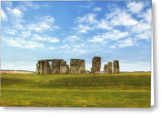 Bronze Age Greeting Cards - Stonehenge Greeting Card by Joana Kruse