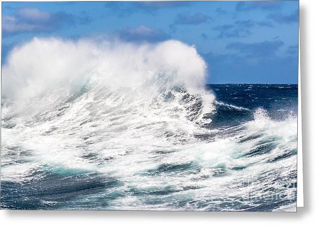 Sailboat Ocean Greeting Cards - Storm Greeting Card by Maslyaev Yury