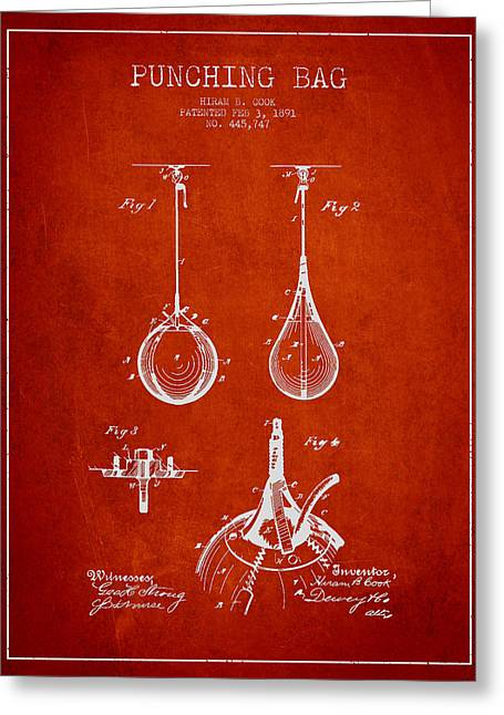 Punch Digital Greeting Cards - Striking Bag Patent Drawing from1891 Greeting Card by Aged Pixel