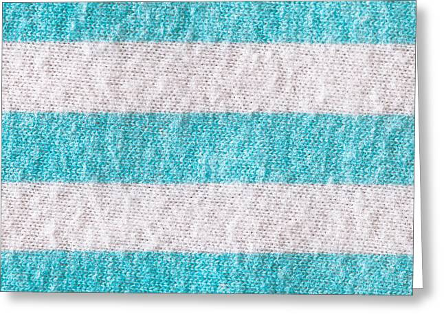 Striped Cloth Greeting Card by Tom Gowanlock