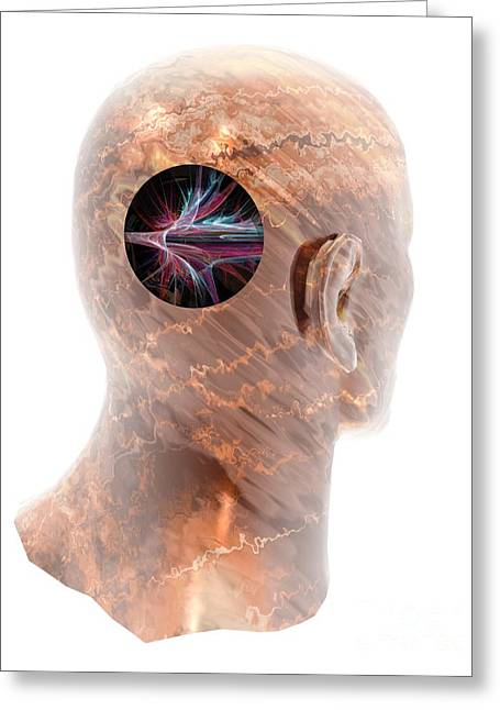 Exploding Head Greeting Cards - Stroke, Conceptual Artwork Greeting Card by Laguna Design