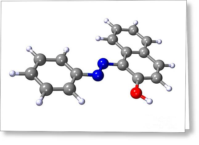 Sudan 1 Molecule Greeting Card by Dr. Mark J. Winter