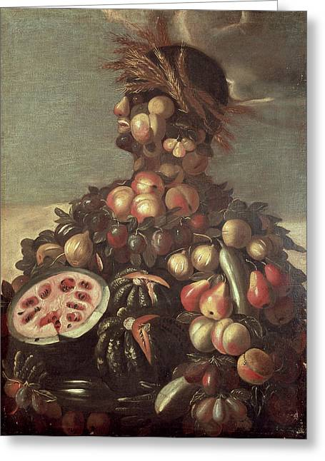 Watermelon Greeting Cards - Summer Greeting Card by Giuseppe Arcimboldo