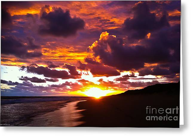 Ninety Mile Beach Greeting Cards - Sunset  Greeting Card by Alexander Whadcoat