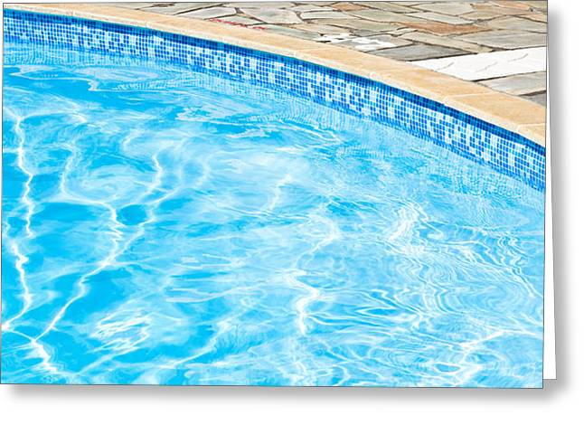 Recreational Pool Greeting Cards - Swimming pool Greeting Card by Tom Gowanlock
