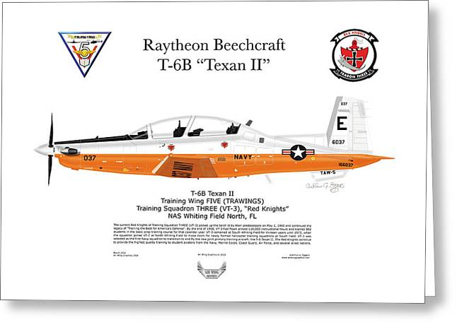 Steve Eggers Greeting Cards - T-6B Texan II Greeting Card by Arthur Eggers
