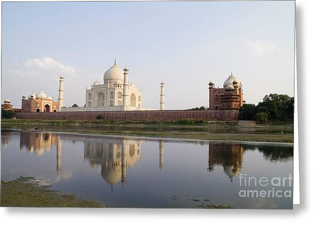 World Destination Photographs Greeting Cards - Taj Mahal Greeting Card by Bill Bachmann