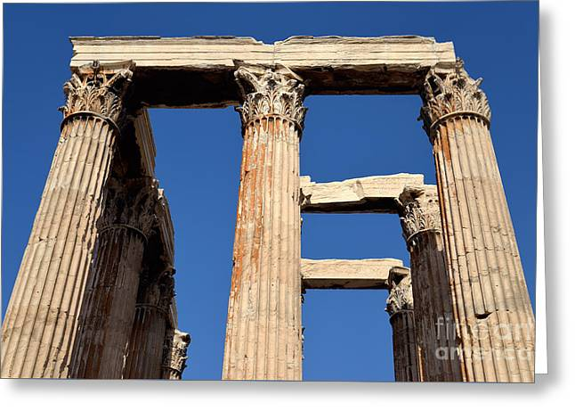 Touristic Greeting Cards - Temple of Olympian Zeus in Athens Greeting Card by George Atsametakis