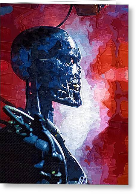 The Terminator Greeting Cards - Terminator the Sarah Connor Chronicles Poster Greeting Card by Victor Gladkiy