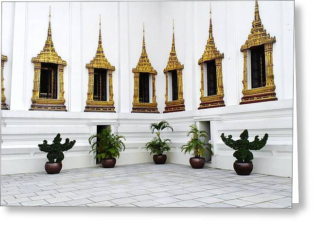 Heir Greeting Cards - Thai Kings Grand Palace Greeting Card by Sumit Mehndiratta