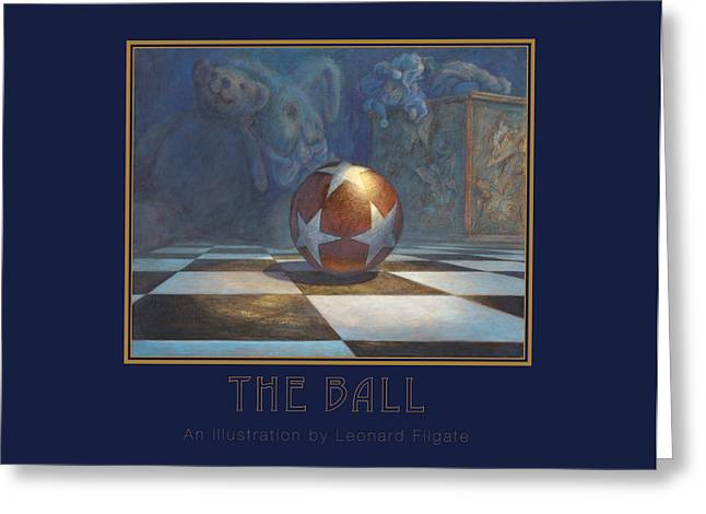 Jack-in-the-box Greeting Cards - The Ball Greeting Card by Leonard Filgate