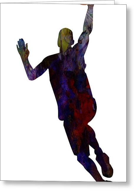 The Basket Player Greeting Card by Adam Asar