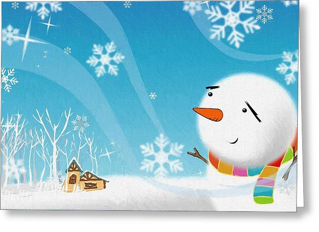 New Year Greeting Cards - The Christmas Greeting Card by Victor Gladkiy