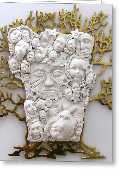 Sculpey Greeting Cards - The Family Tree Greeting Card by Keri Joy Colestock