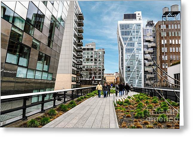 Line Greeting Cards - The High Line Urban Park New York Citiy Greeting Card by Amy Cicconi