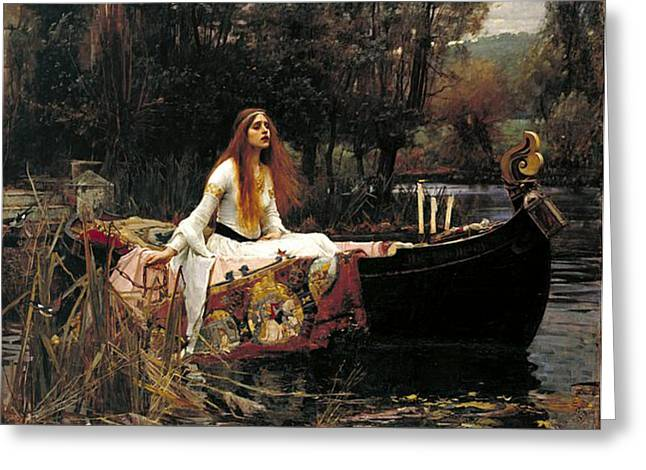 Camelot Greeting Cards - The Lady Of Shalott Greeting Card by John William Waterhouse