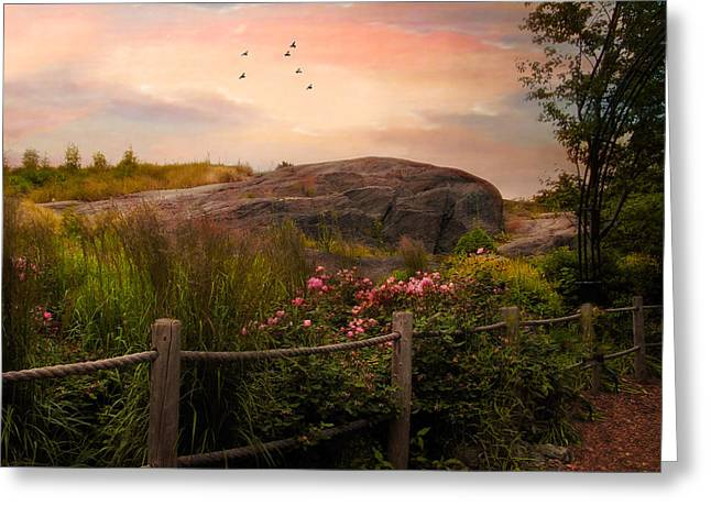 Summer Landscape Greeting Cards - The Rock Garden Greeting Card by Jessica Jenney