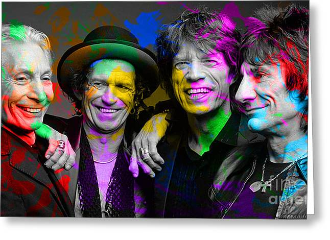 Stones Greeting Cards - The Rolling Stones Greeting Card by Marvin Blaine
