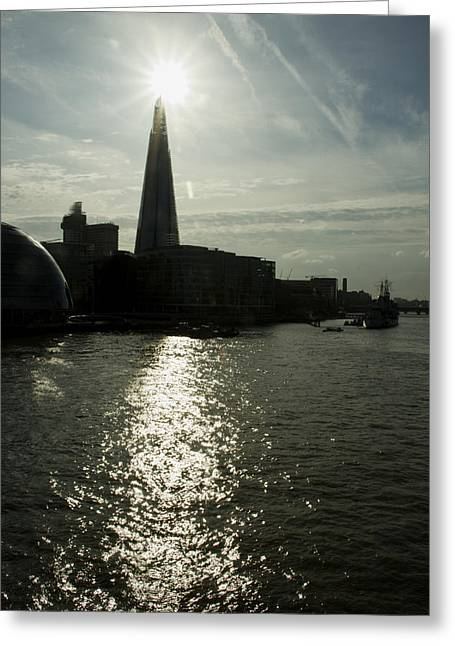 The Shard London Skyline  Greeting Card by David French