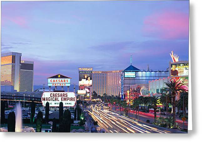 Consumption Greeting Cards - The Strip, Las Vegas, Nevada, Usa Greeting Card by Panoramic Images