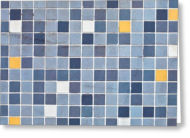 Tiles Greeting Card by Tom Gowanlock