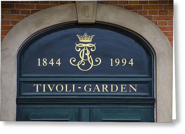 Vertigo Greeting Cards - Tivoli Gardens - Copenhagen Denmark Greeting Card by Jon Berghoff