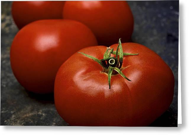 Vegetable Photographs Greeting Cards - Tomatoes Greeting Card by Bernard Jaubert