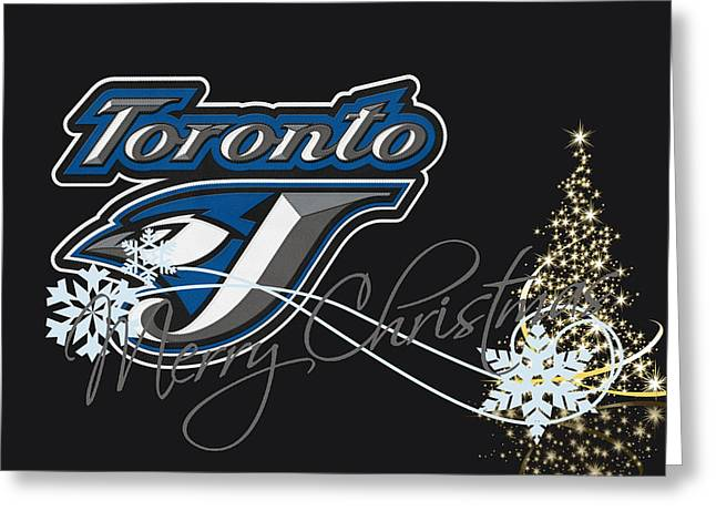 Santa Greeting Cards - Toronto Blue Jays Greeting Card by Joe Hamilton