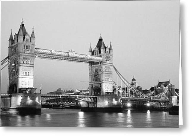 Historic England Greeting Cards - Tower Bridge London England Greeting Card by Panoramic Images