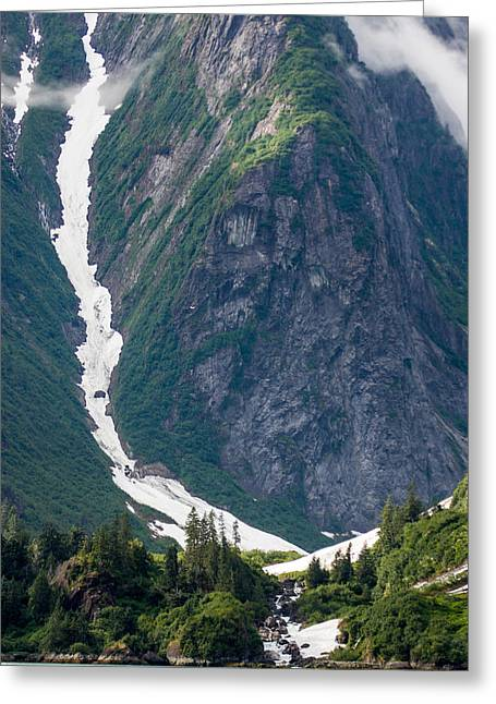 Environment Greeting Cards - Tracy Arm Fjord Series Greeting Card by Josh Whalen