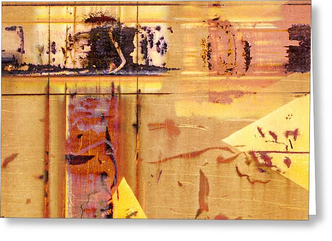 Boxcars Greeting Cards - Train Art Abstract Greeting Card by Carol Leigh