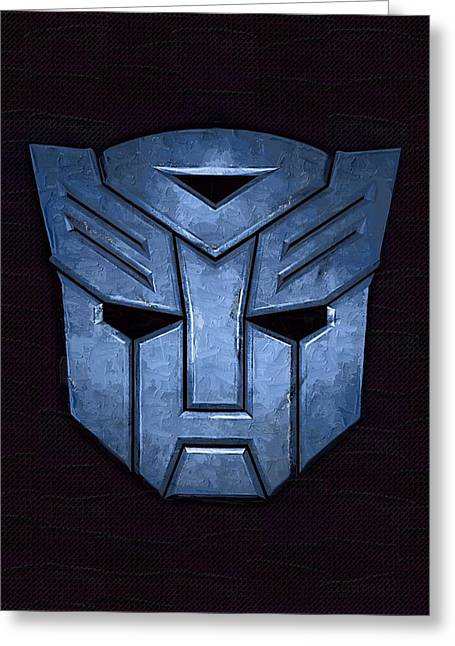 Transformer Greeting Cards - Transformers Greeting Card by Victor Gladkiy