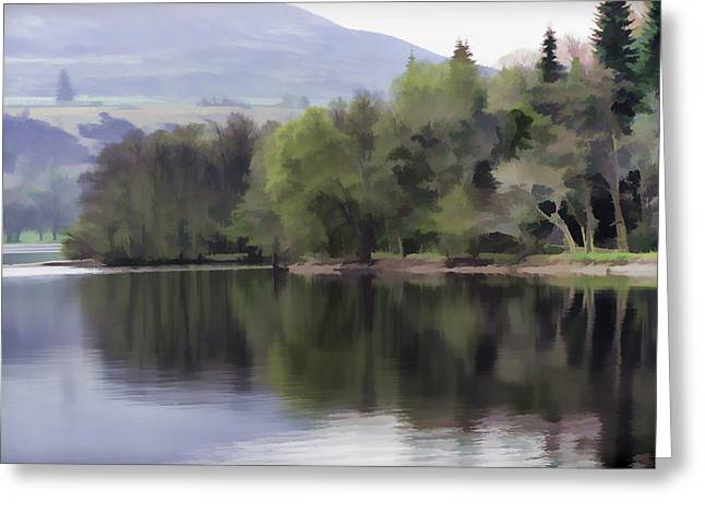 Greenery Greeting Cards - Trees and greenery on the shore of Loch Ness Greeting Card by Ashish Agarwal